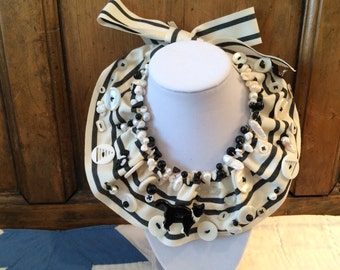 One of a kind ribbon necklace