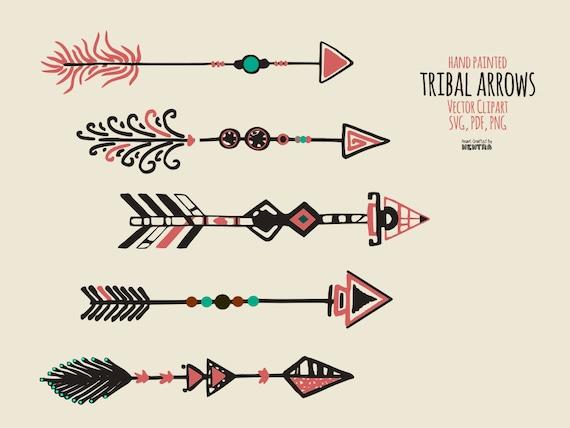 hand painted tribal arrows clipart tribe african hawaiian