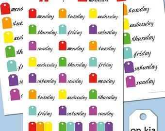 Sticker weekdays monday to friday