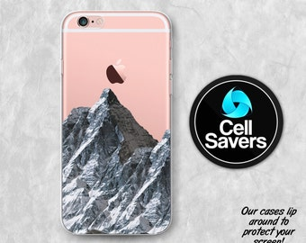 Mountain Clear iPhone 7 Plus iPhone 6s Case iPhone 6 iPhone 6 Plus iPhone 6s + iPhone 5c iPhone 5 SE Clear Case Nature Mountain Snow Travel