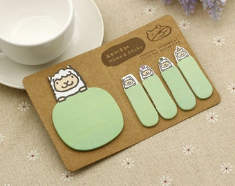 Sheep Sticky Notes / Sheep Stationery / Cute Sticky Notes / Cute Stationery / Kawaii Stationery / Office Supplies / Memo Pads / Bookmark
