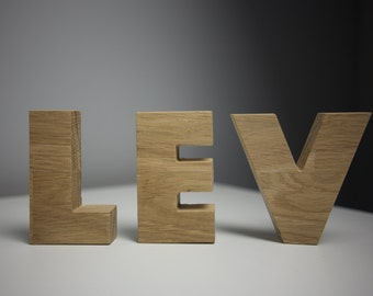 Letters (solid) - any text or message according to your liking. Free shipping.