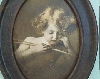 "1890s ""Cupid Asleep"" print"