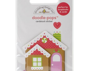 Sugarplums Doodle-Pops 3D Stickers-Candy Cottage NM-SPDP-4761