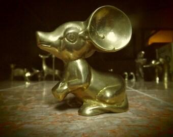 Brass Mouse Figurine