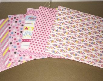 A2 Envelopes Pink-Patterned