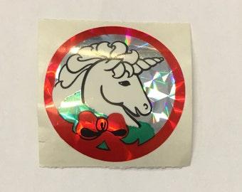 Vintage Sandylion Prismatic Unicorn Sticker