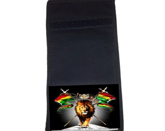 Lion with Flags Printed Ripper Wallet