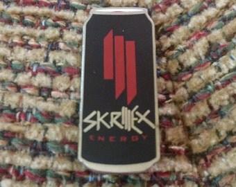 Skrillex Energy Drink Hat Pin RED