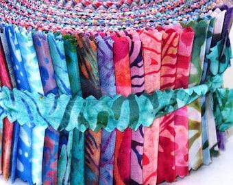 Pastel Pop - Trend-Tex Fabrics Precut - Batik Jelly Roll bright batik strips of cotton fabric for quilting