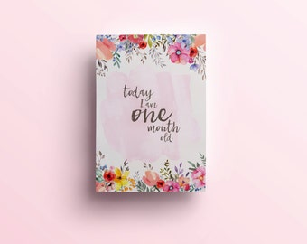 Baby Girl Milestone & Moment Cards - The Lilah Collection
