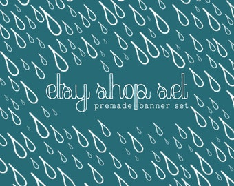 Shop Banner Set - Rainy Day