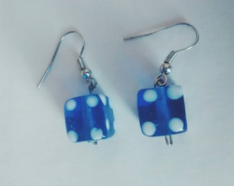 3D Dice Earrings