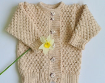 Bobble stitch knitted sweater