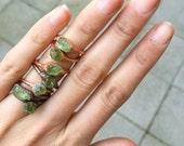 Raw Peridot Ring | Raw Crystal Ring | Peridot Jewelry | August Birthstone Ring | Raw Stone Ring