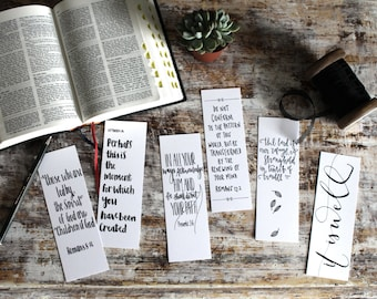 Bible Verse Bookmarks Set B (pack of six)