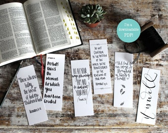 Downloadable Children of God Christian Bookmarks - Bible Verse Bookmarks (SET OF SIX) - Christian Gifts - Faith Gifts