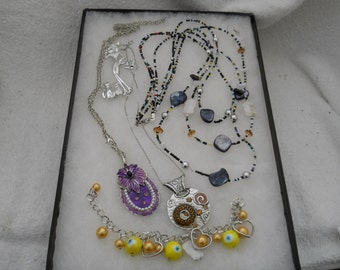 Vintage Jewelry Lot Hand Made And More #442