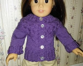 American Girl doll cardigan