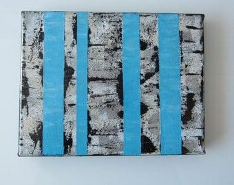 Original Art, Abstract Birch Trees