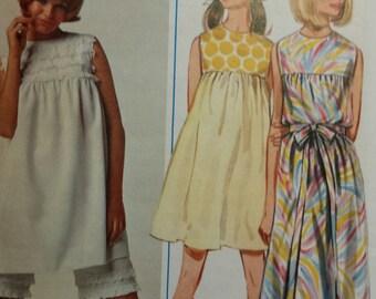 Uncut 1970's Butterick one piece dress with pantaloons pattern, sz 12 (bust 32), 4625
