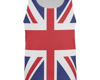 British Flag Union Jack All Over Mens Tank Top