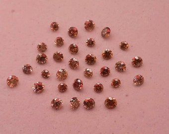 Lot of natural champagne diamonds 1/2 ct