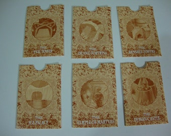 1992 Key to the Kingdom Board Game Parts Treasure Card Envelops Only Vintage Game Pieces