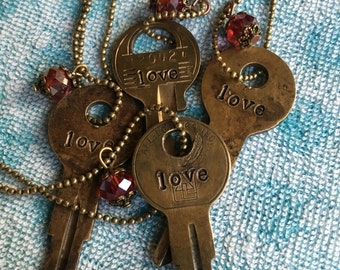Love Key Necklace