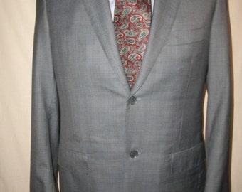 ISAIA (Napoli) Men's 100% Wool Plaid Blazer 42R