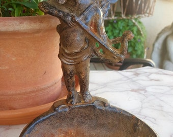 cast iron angel cherub