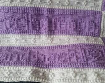 Crochet bobble blanket