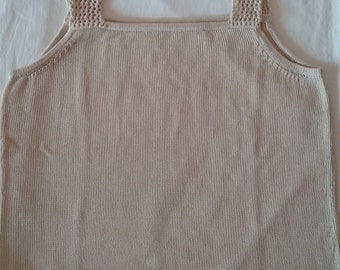 Art cotton tank top with spaghetti straps perforated 13