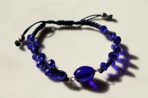 Macrame Bracelet - blue