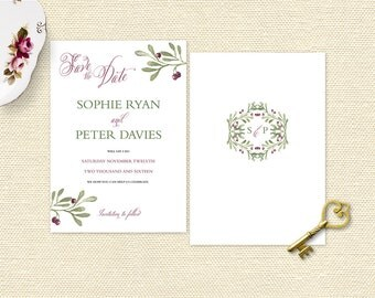 Berry Pretty Save the Date Cards