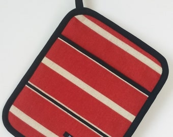 Pot Holder, Red stripe