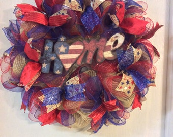 Patriotic Wreaths- 4th of July Wreath-Fourth of July Wreath-Home Wreath-Memorial Day Wreath