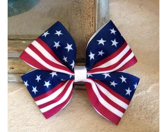 Red, White, & Blue Basic Bow