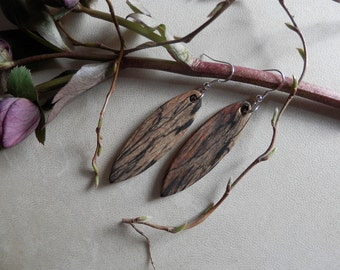 Georgeous Exotic Spalted Tamarind Wood Earrings. FREE SHIPPING !!!