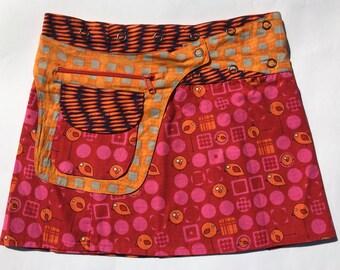Ananda Reversible Wrap Mini Skirt