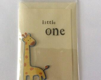 Handmade card- little one (boy) 6x4