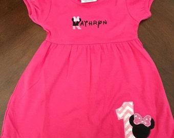 Minnie Mouse Dress - Minnie Mouse Birthday Dress - Minnie Mouse First Birthday -