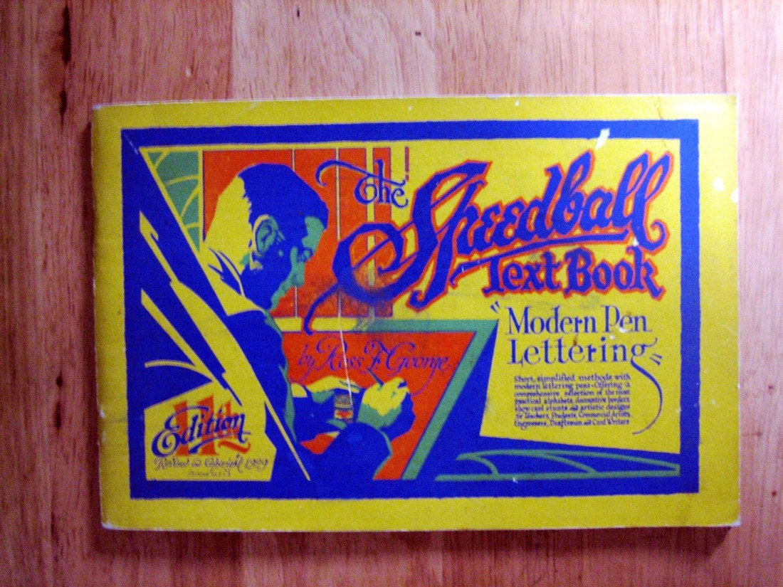 The Speedball Text Book 1929 Ross F George 11th Edit First
