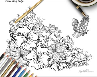 Adult Colouring Page Sunday