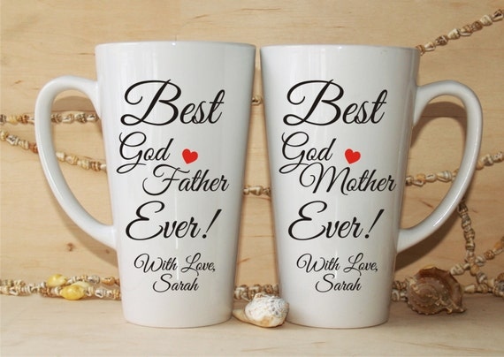 Godparents Gift-Christening Gift-Godparents Mugs-Christening