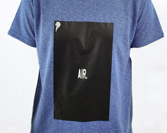 "ERA ""AIR"" Logo Blue Short Sleeve TShirt"