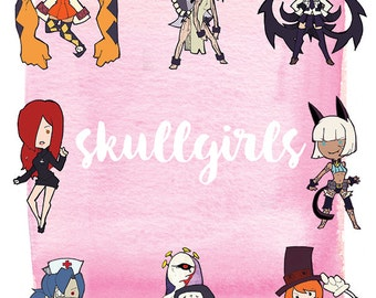 Skullgirls Stickers