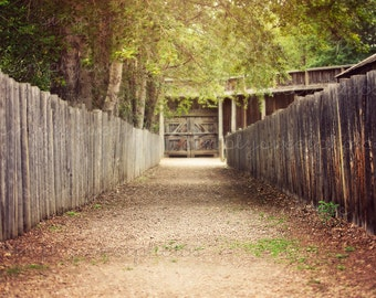Digital Background Fenced Path