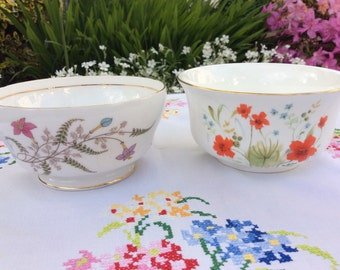A pair of Vintage Sugar bowls, a pretty addition for a special party