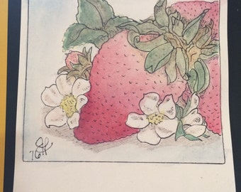 Nee Spring Strawberry with blossoms